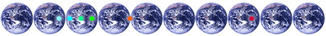 10 Earths CO2 - Earths fotos: NASA - Personal CarbonOffset
